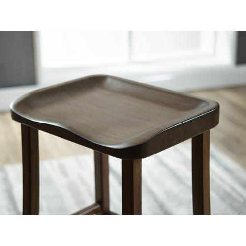 Greenington Fine Bamboo Furniture - Tulip Counter Height Stool, Black Walnut, (Set of 2)