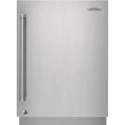 Sub-Zero - Outdoor Stainless Steel Solid Door Panel With Lock - Pro Handle, Right Hinge