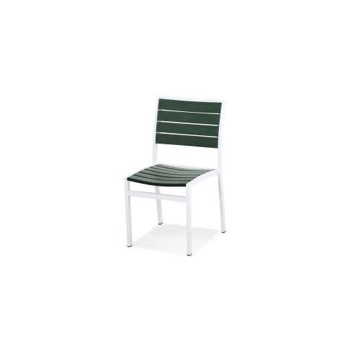 Polywood Furnishings - Eurou2122 Dining Side Chair in Satin White / Green
