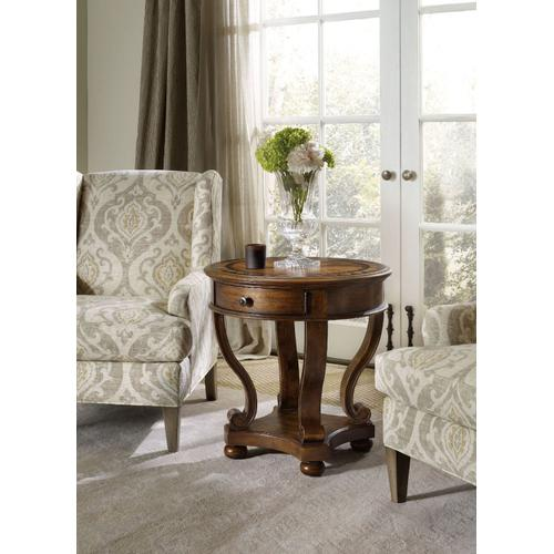 Living Room Archivist Round Accent End Table