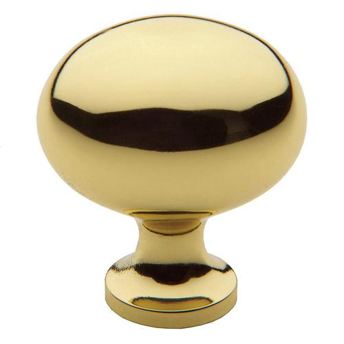 Polished Brass Oval Knob