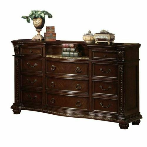 ACME Anondale Dresser w/Marble Top - 10315 - Cherry