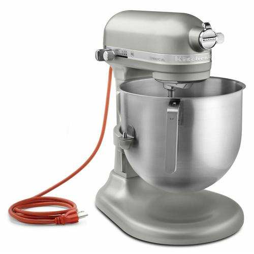 Gallery - NSF Certified® Commercial Series 8-Qt Bowl Lift Stand Mixer - Nickel Pearl