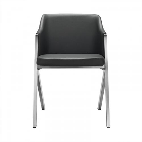 VIG Furniture - Darcy - Modern Grey Leatherette Dining Chair (Set of 2)