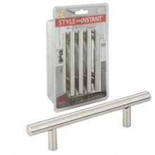 See Details - 96 mm Center-to-Center Hollow Stainless Steel Naples Retail Packaged Cabinet Bar Pull