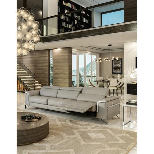 VIG Furniture - Accenti Italia Vogue Italian Modern Grey & White Sofa w/ Electric Recliner