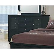 Sandy Beach Black 11-drawer Dresser Product Image