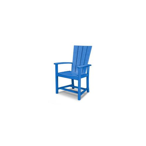 Polywood Furnishings - Quattro Adirondack Dining Chair in Pacific Blue