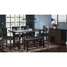 American Rustics Counter Table W/(4) Stools