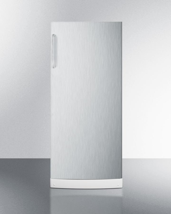 """Summit10.1 Cu.Ft. General Purpose All-Refrigerator In Slim 24"""" Width, With Automatic Defrost, Internal Fan, Stainless Steel Door, And Towel Bar Handle"""