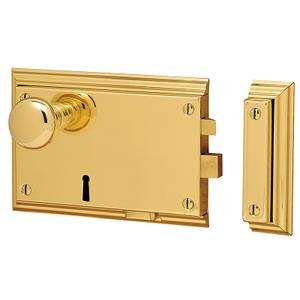 Lifetime Polished Brass 5636 Bevelled Rim Lock Product Image