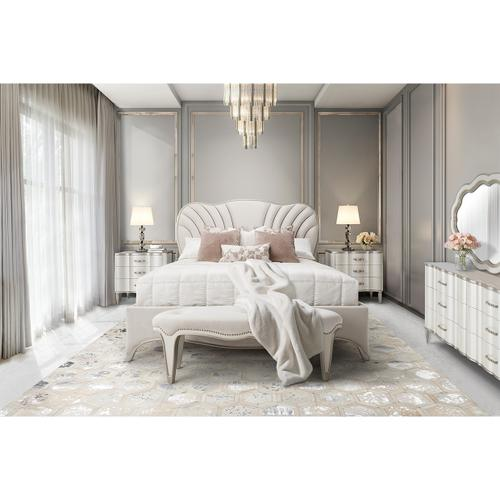 Amini - Eastern King Upholstered Panel Bed (3 Pc)