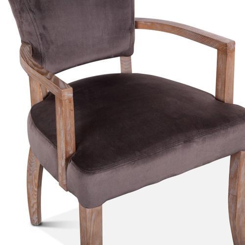 Mindy Arm Chair Asphalt Velvet