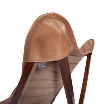 See Details - Leather Sling Chair