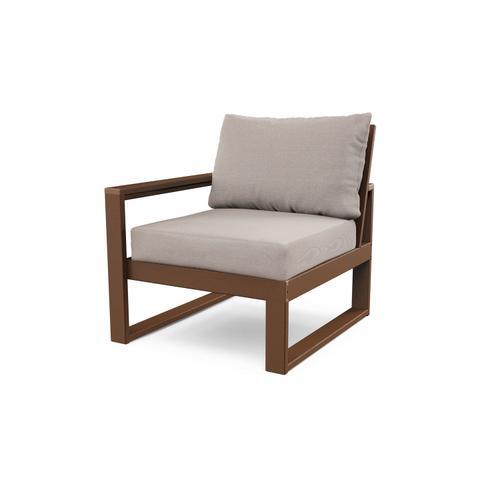 Teak & Dune Burlap EDGE Modular Left Arm Chair