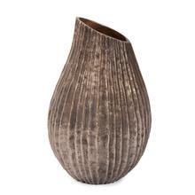View Product - Organic Grooved Teardrop Aluminum Vase