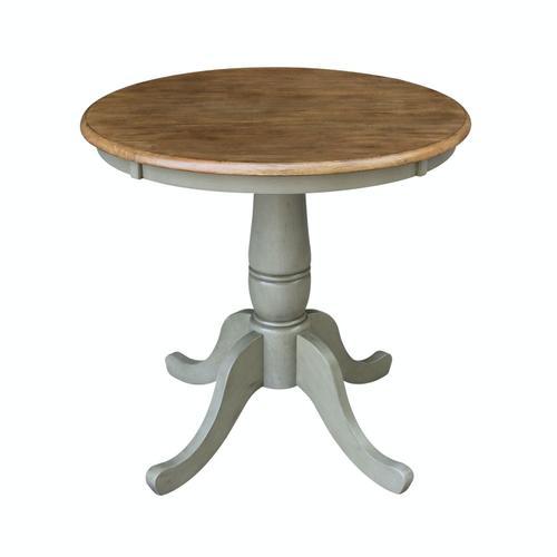 "John Thomas Furniture - 30"" Pedestal Table in Hickory/Stone"