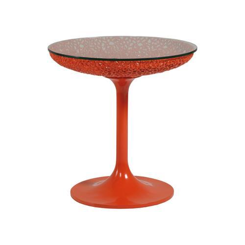 Seascape Round Orange Spot Table
