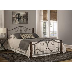 Destin Queen Bed With Frame - Brushed Cherry