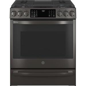 "GEGE Profile(TM) 30"" Smart Slide-In Front-Control Gas Range with No Preheat Air Fry"