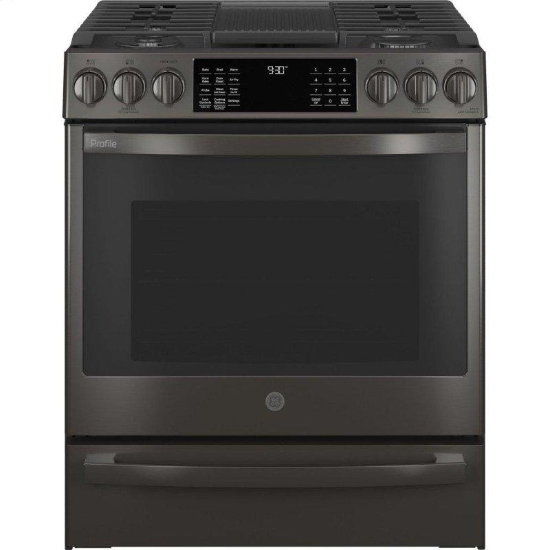 """GE Profile™ 30"""" Smart Slide-In Front-Control Gas Range with No Preheat Air Fry"""
