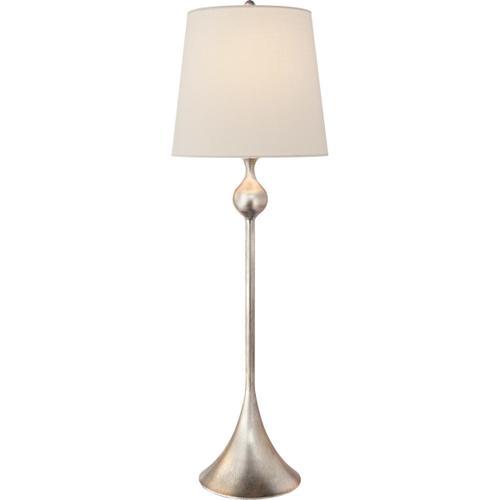 AERIN Dover 31 inch 60 watt Burnished Silver Leaf Buffet Lamp Portable Light