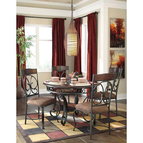 Signature Design By Ashley - Glambrey - Brown Set Of 4 Dining Room Chairs