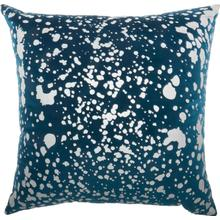 "Luminescence Qy168 Teal 18"" X 18"" Throw Pillow"