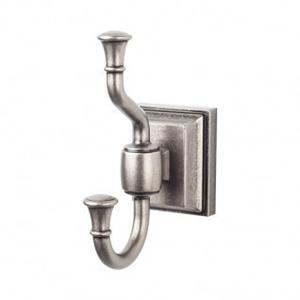 Stratton Bath Double Hook - Antique Pewter Product Image