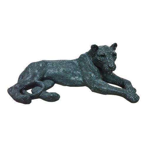 Panthera Statue Small Black
