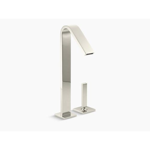 Vibrant Polished Nickel Single-handle Bathroom Sink Faucet With Lever Handle