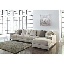 Ardsley II Sectional Pewter Right