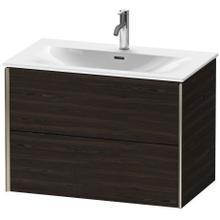 View Product - Vanity Unit Wall-mounted, Brushed Walnut (real Wood Veneer)