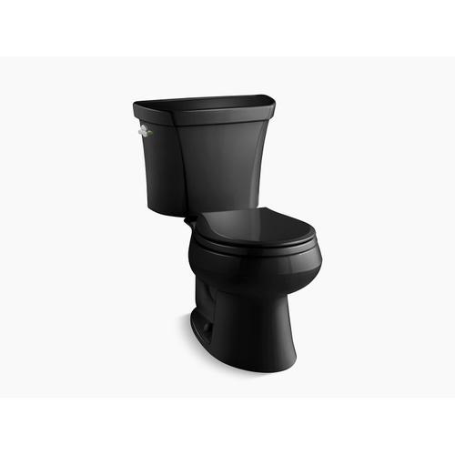 Kohler - Black Black Two-piece Round-front Dual-flush Toilet