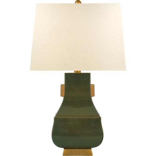Visual Comfort - E. F. Chapman Kang Jug 29 inch 100.00 watt Oslo Green with Burnt Gold Table Lamp Portable Light, Large