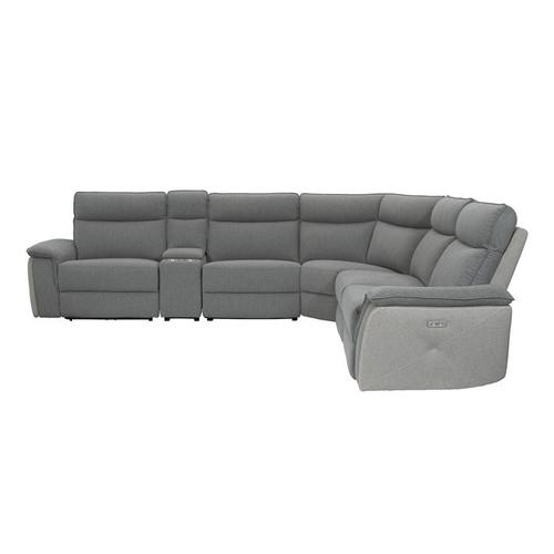 6-Piece Modular Power Reclining Sectional with Power Headrests