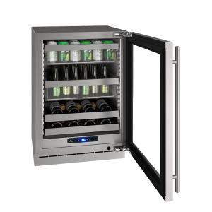 "U-LineHbv524 24"" Beverage Center With Stainless Frame Finish and Field Reversible Door Swing (115 V/60 Hz Volts /60 Hz Hz)"
