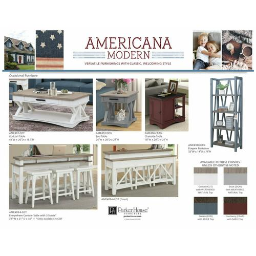 Parker House - AMERICANA MODERN - CRANBERRY 56 in. Lift Desk Top & Base Cover