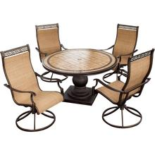 Monaco 5 Pc. Dining Set - Four Swivel Rockers and a 51 in. Round Table