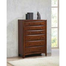 Hillary Warm Brown Six-drawer Chest