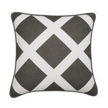 Duncan Decorative 100% Cotton Throw Cushion - Grey