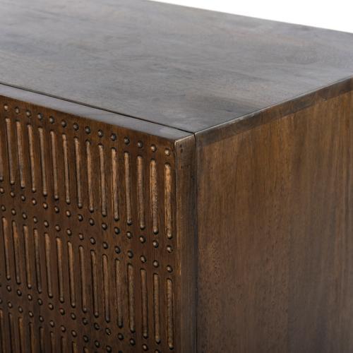 Kelby Cabinet Nightstand-gunmetal