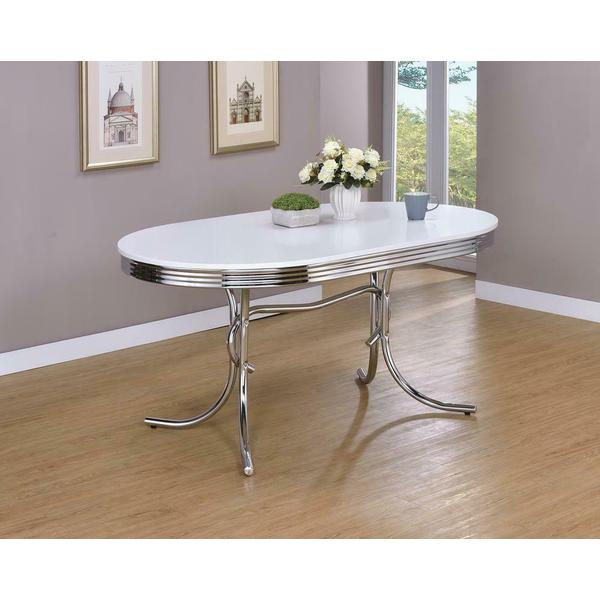 See Details - Retro Collection White Dining Table
