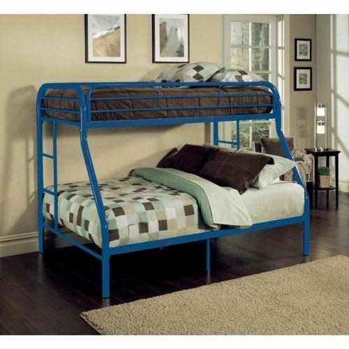 ACME Tritan Twin/Full Bunk Bed - 02053BU - Blue