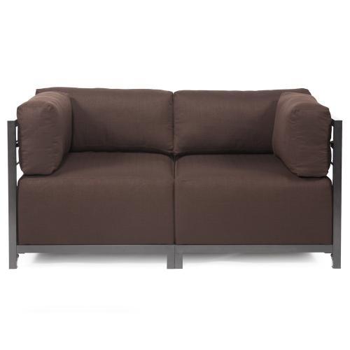 Axis Corner Chair Sterling Chocolate Titanium Frame