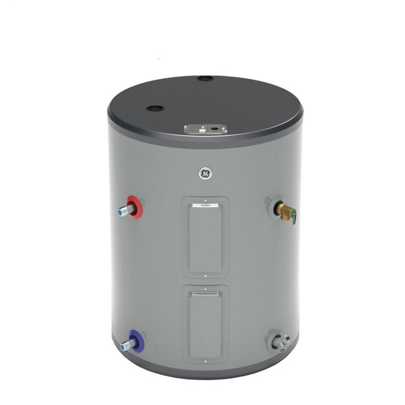 GE® 26 Gallon Side Port Lowboy Electric Water Heater