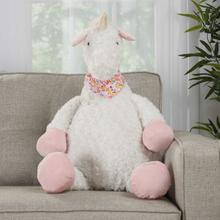 """See Details - Plushlines N1564 Ivory 1'10"""" X 2'2"""" Plush Animal"""