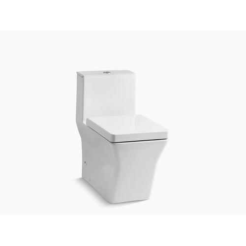 Kohler - White One-piece Compact Elongated Dual-flush Chair-height Toilet With Slow Close Seat