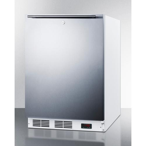 Summit - ADA Compliant Freestanding Medical All-freezer Capable of -25 C Operation, With Lock, Wrapped Stainless Steel Door and Horizontal Handle