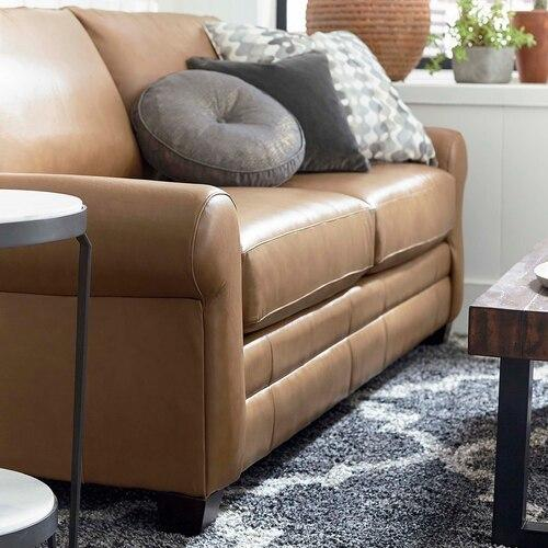 CU.2 Leather Sofa, Arm Style Wedge